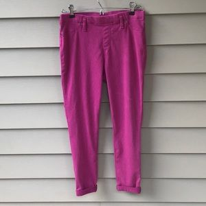 Bright pink stretch jeans by Time and True. Size M